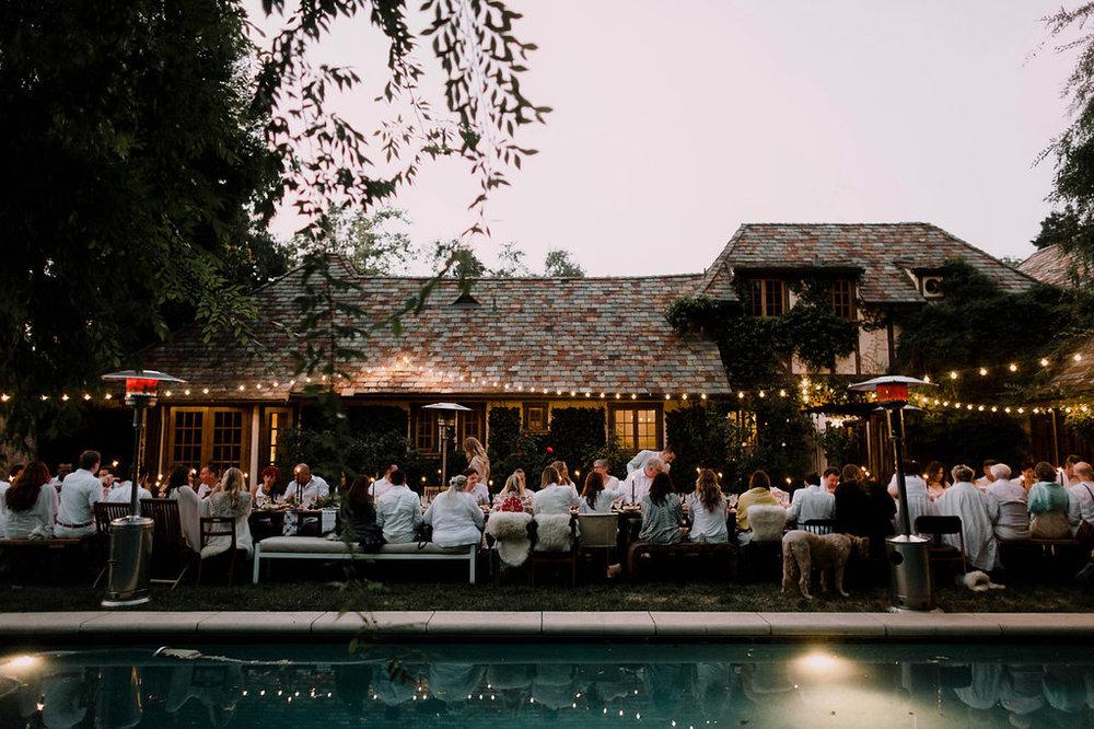 Bohemian Outdoor Wedding Tablescape, Alfresco Dining, Wedding Planning: Art & Soul Events