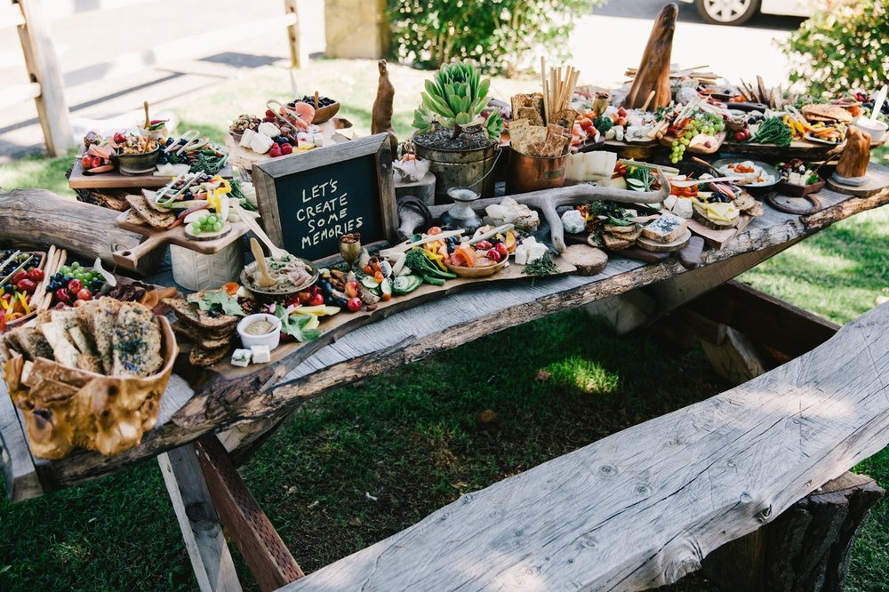 Incredible cheese and crudite station, Art & Soul Events, Alamo Motel Wedding