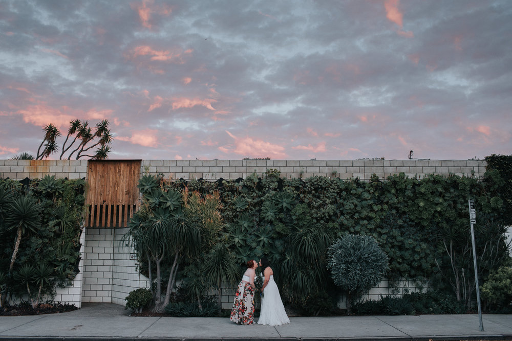 Smog Shoppe Wedding at Sunset
