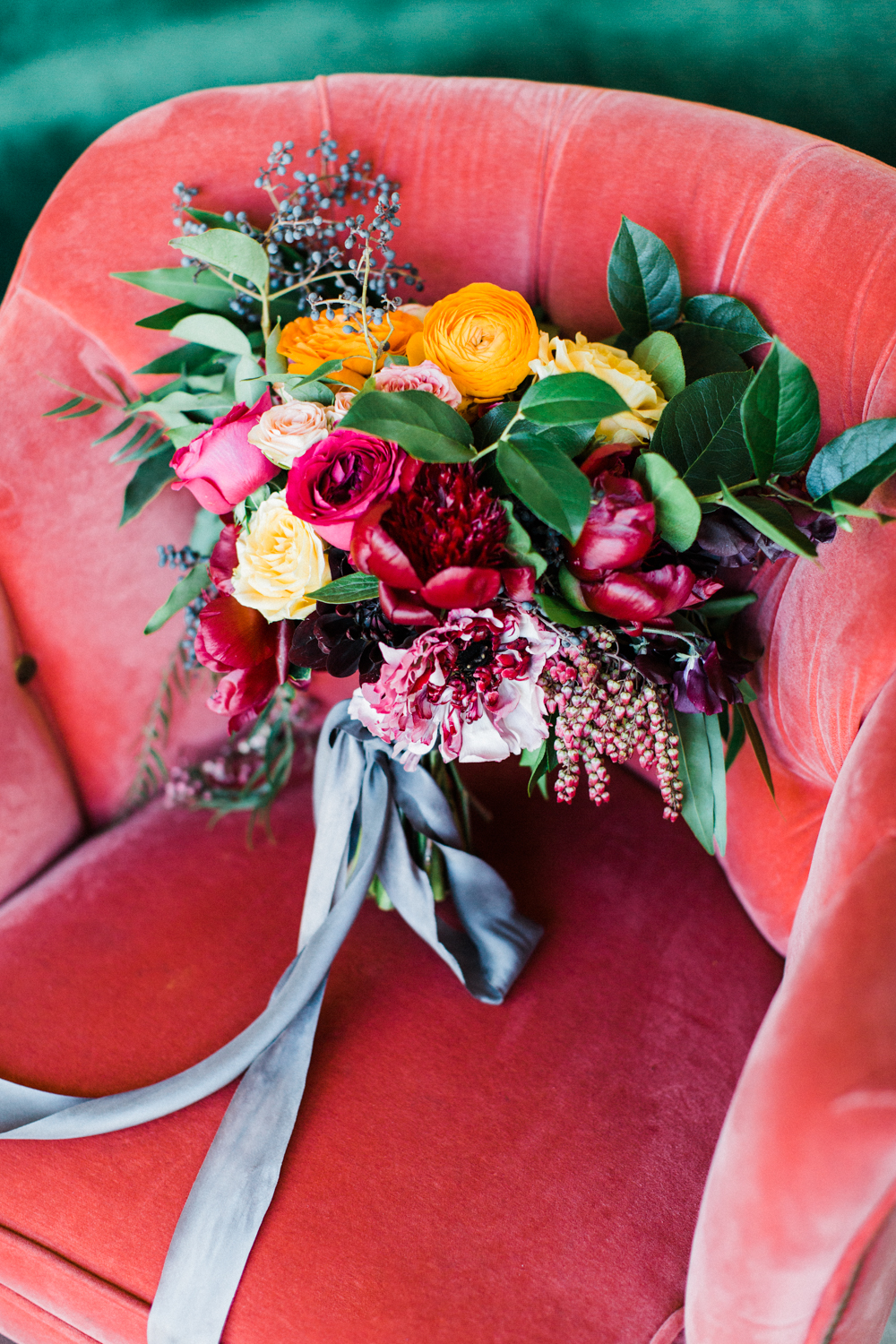 Beautiful and colorful wedding bouquet, The Fig House Wedding, Planned by Art & Soul Events