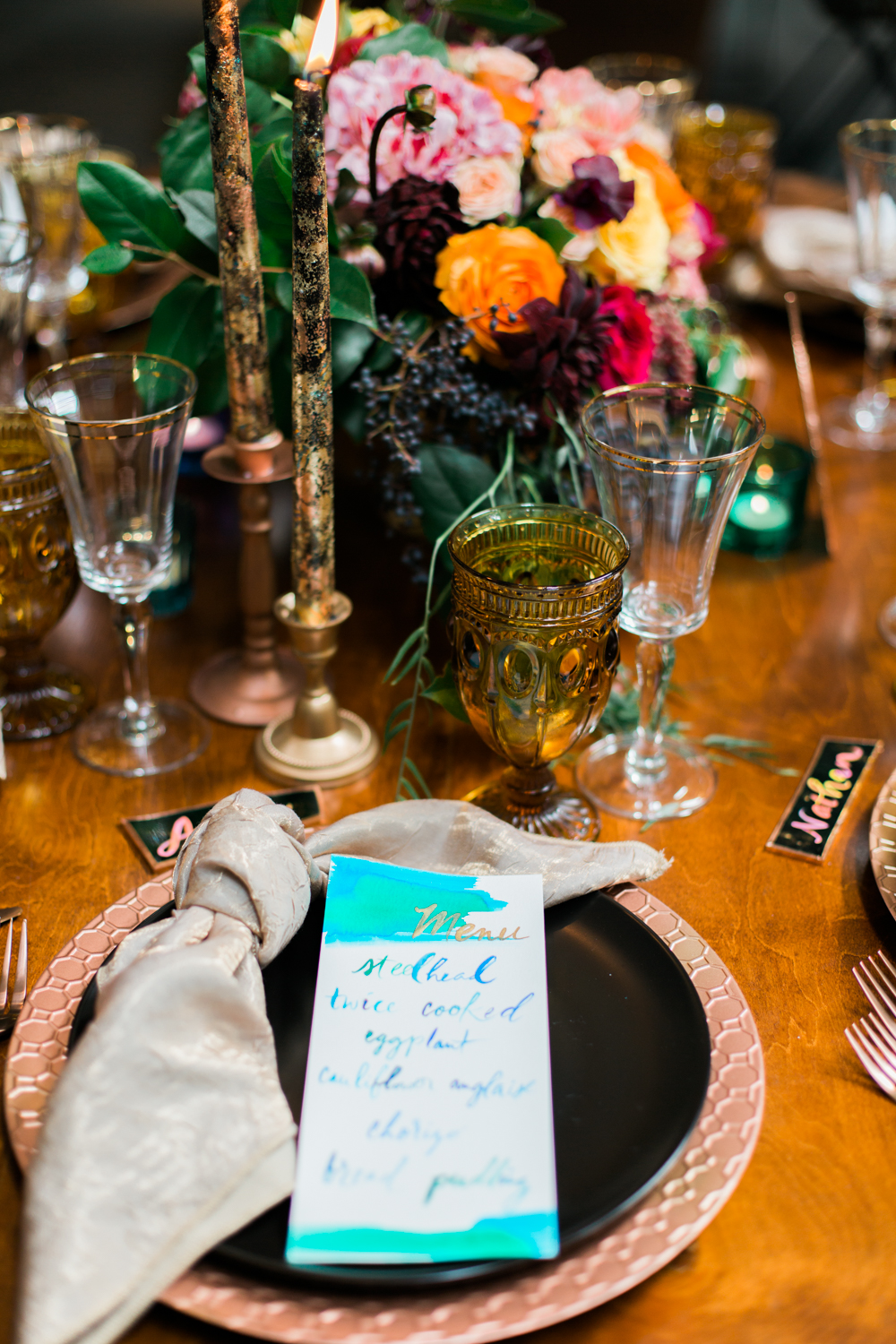 Moody & Colorful Fig House Inspired Wedding, Planned & Designed by Art & Soul Events, Pigment & Parchment Stationery Design