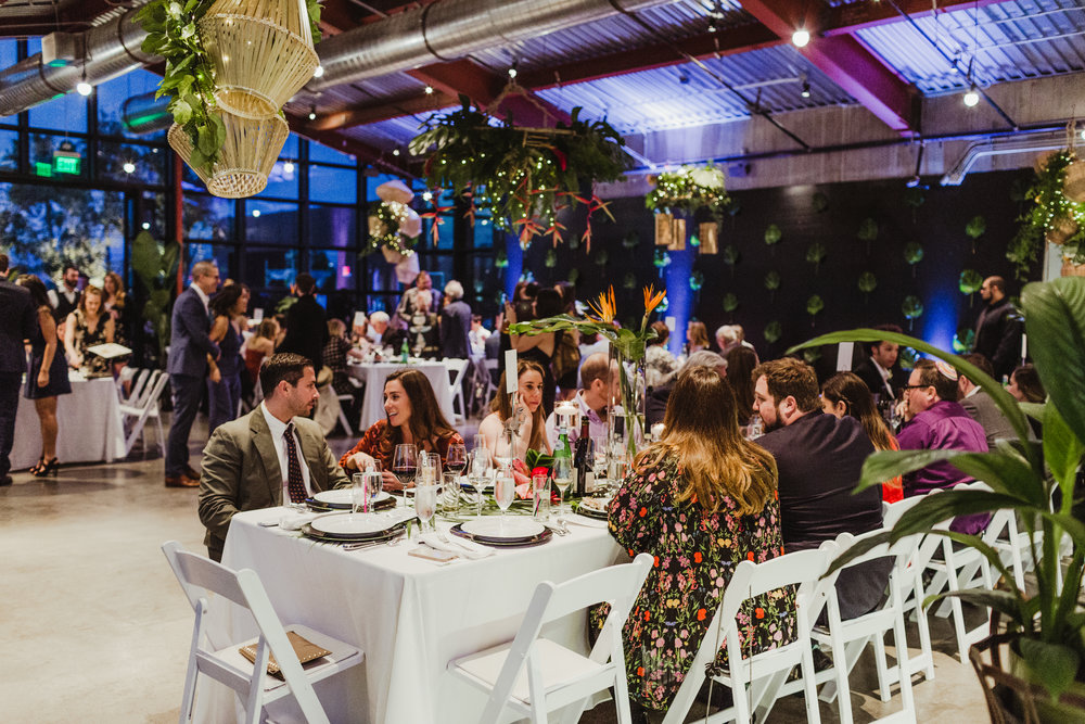 Wedding Planner Art & Soul Events, Hannah Costello Photographer, Tropical Industrial Wedding at The Greenhouse at Platform LA