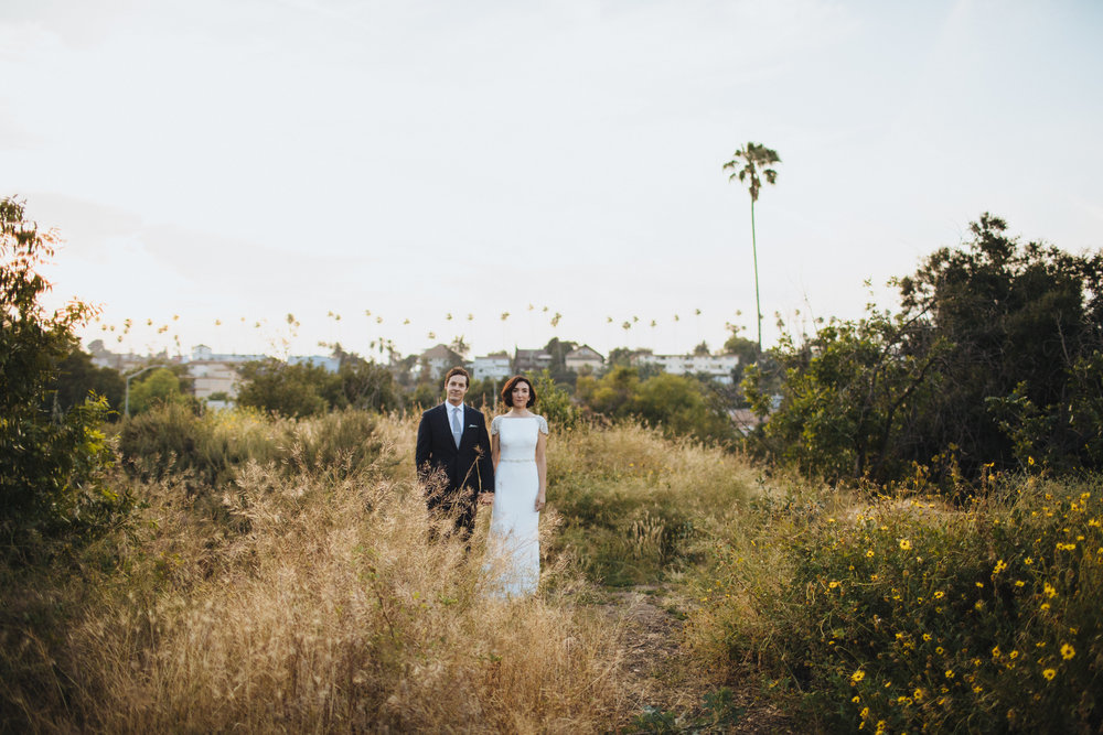 Los Angeles Wedding, Sunset Portraits, Photographer: Rad + In Love, Art & Soul Events, Ruby Street Wedding Venue