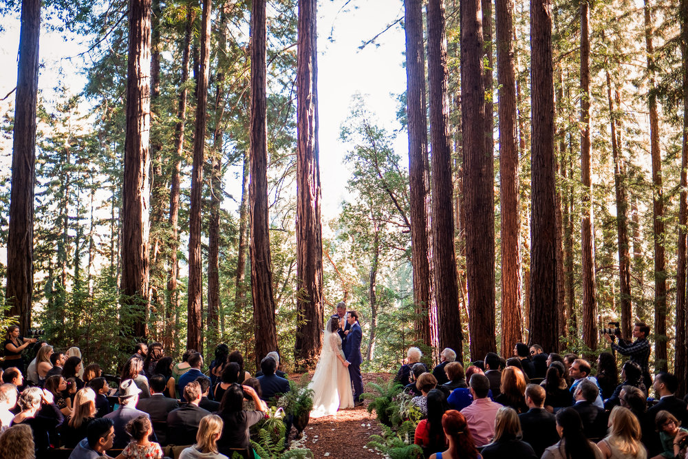Magical Woodland California Wedding Venue,  Sequoia Retreat Center Wedding, Art & Soul Events, Nordica Photography, Bride & Groom, Air Plant bouquet with flowers, Monique Lhuillier gown and Claire Pettibone Veil