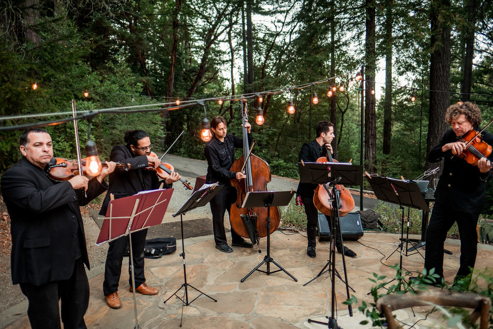 Art & Soul Events, Nordica Photography, Magical Woodland California Wedding Venue at The Sequoia Retreat Center, Bride & Groom, Classical Revolution Quintet