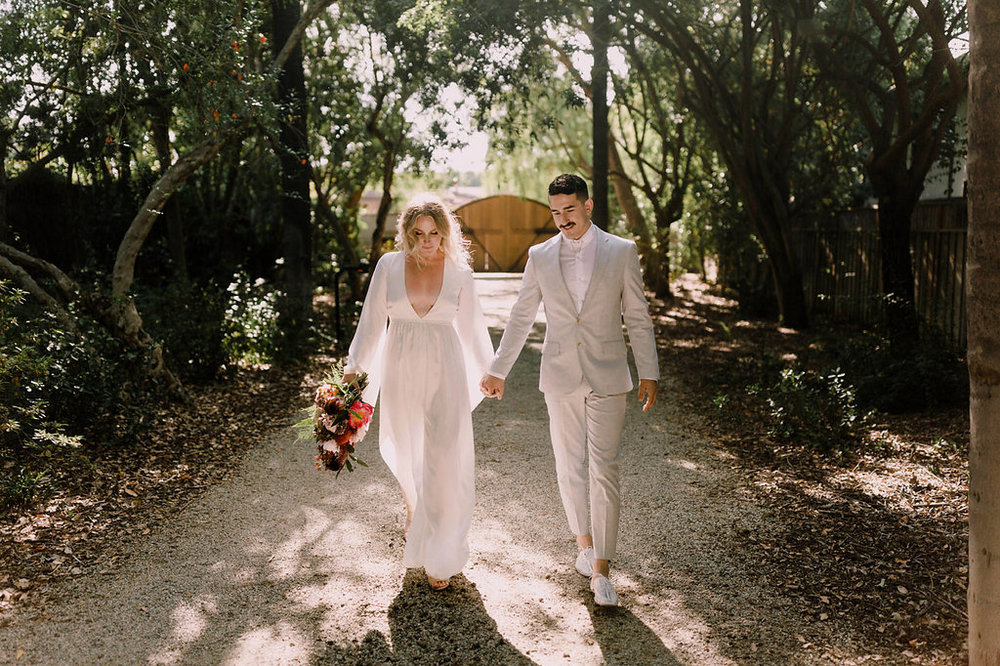 Evangeline Lane's Bohemian Secret Garden Wedding, Art & Soul Events, Levi Tijerina