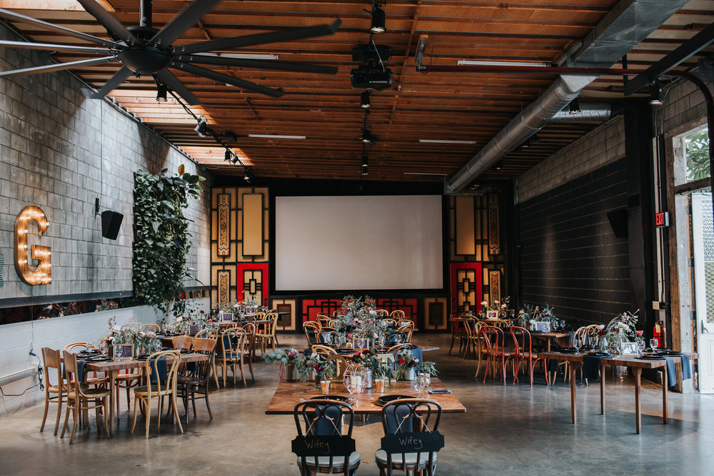 Smog Shoppe Wedding, Eclectic & Moody, Art & Soul Events, Two Brides, LGBTQ Wedding