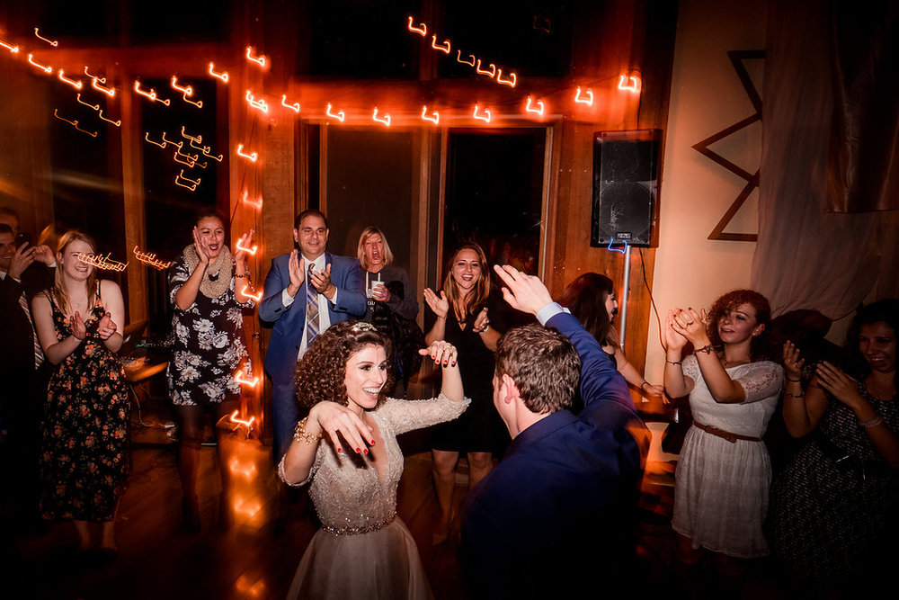 Dance Party in The Lodge, Sequoia Retreat Center Magical Woodland Wedding, Art & Soul Events