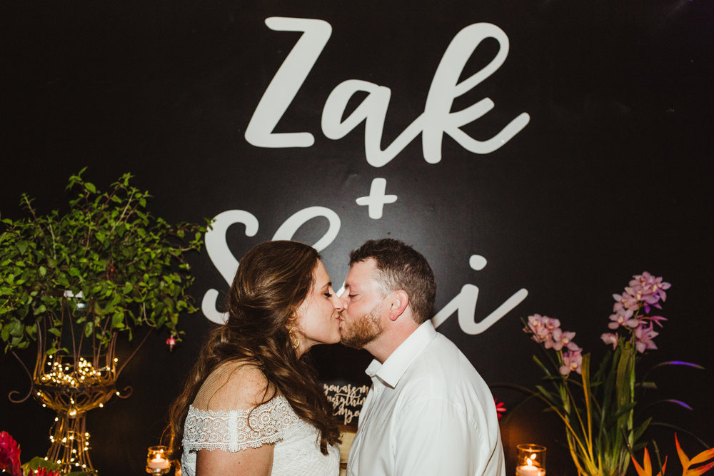 Zak & Sheri Kiss, Wedding Planning: Art & Soul Events, Tropical Greenhouse at Platform LA Wedding