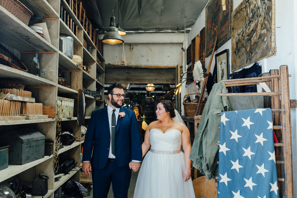 Amy + Andy   //  D. Lillian Photography , Floral Design:  Foxtail Florals , Dress:  Della Curva
