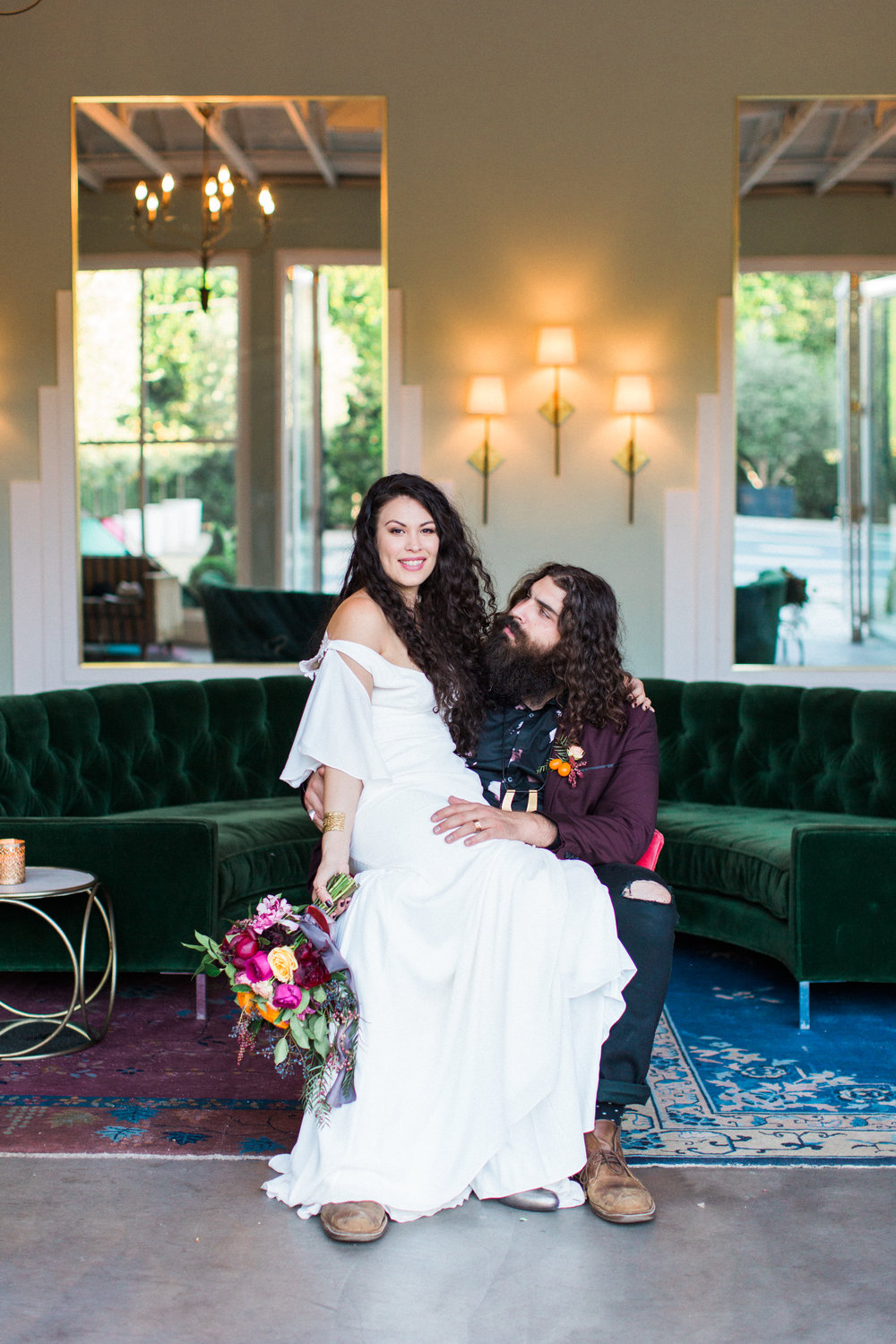 Jasmine + Justin Editorial  // Photographer:  Laura Ford,  Floral Design: Sibyl Sophia