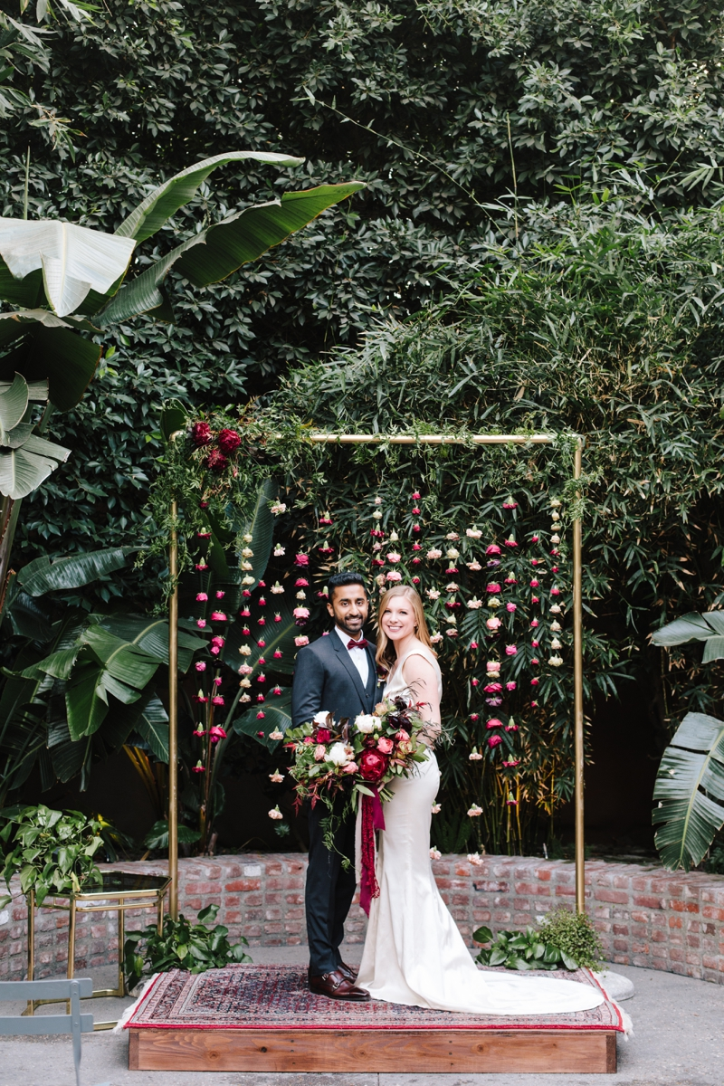 Kristen + Ruchi   //  Photographer:  Heather Kincaid,   Foxtail Florals  , Poruwa:  Thrifted Sister Vintage