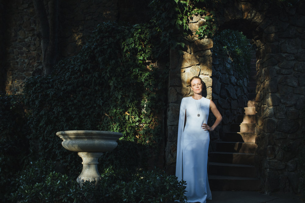 Tricia + Rhys // Photographer:  Rad + In Love ,  Stella McCartney Cape Dress ,  Houdini Estate