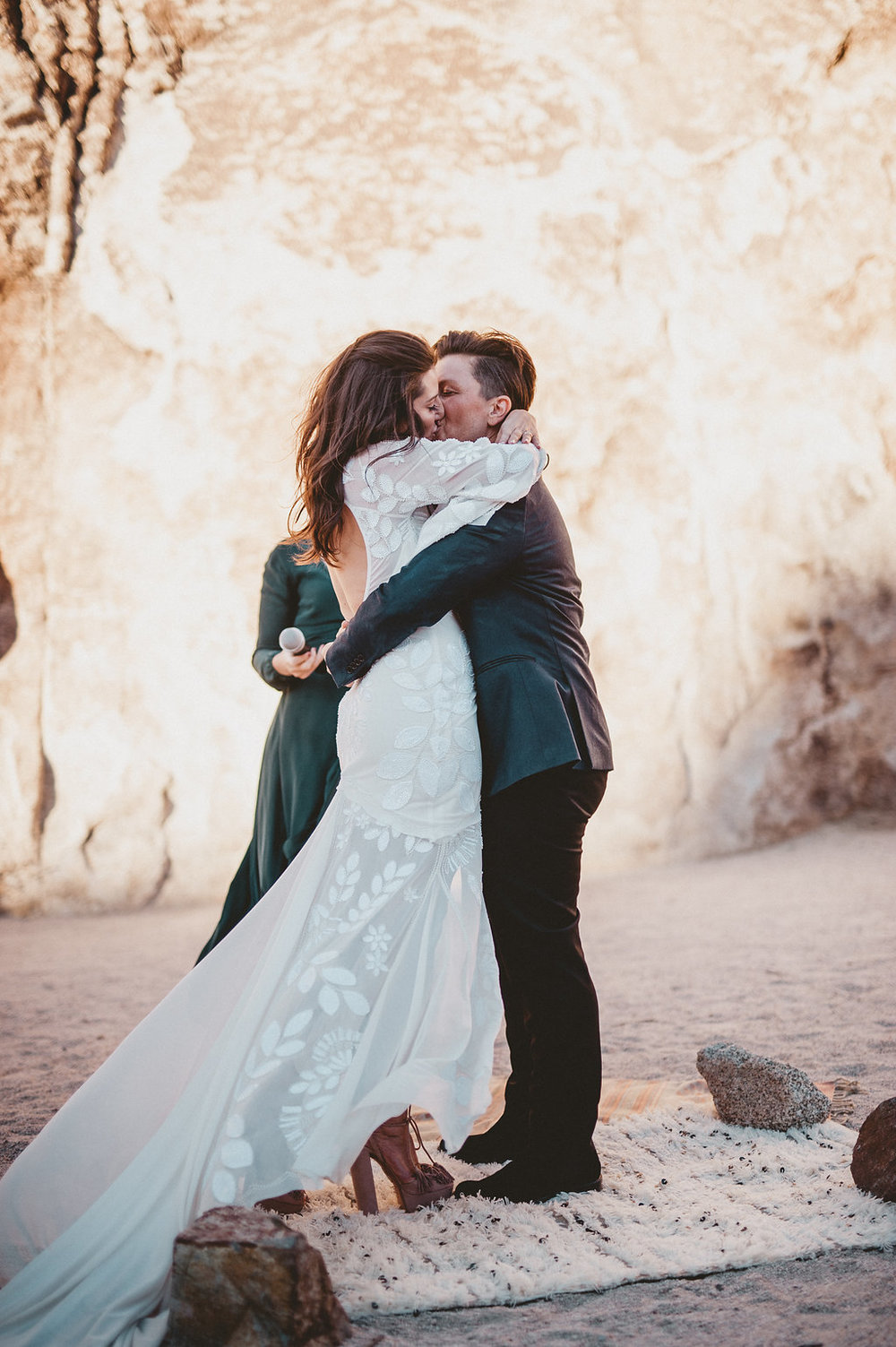 Indian Cove Amphitheater Wedding, Joshua Tree National Park Ceremony, Art & Soul Events