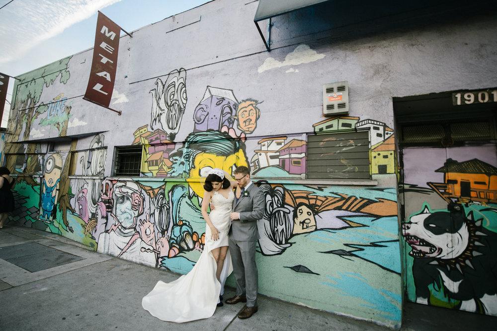 LA River Studios Street Art Wedding Portraits