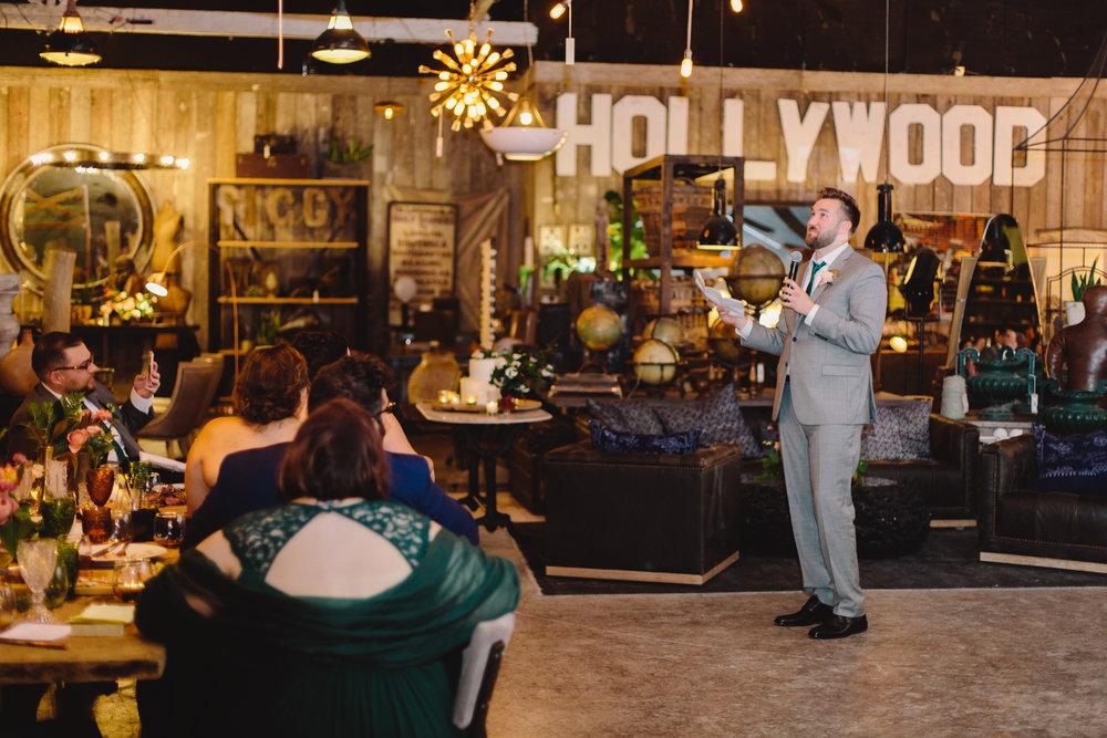 83453ec6795 Wedding Toasts. Unique   Eclectic wedding at Big Daddy s Antiques Los  Angeles Wedding Venue
