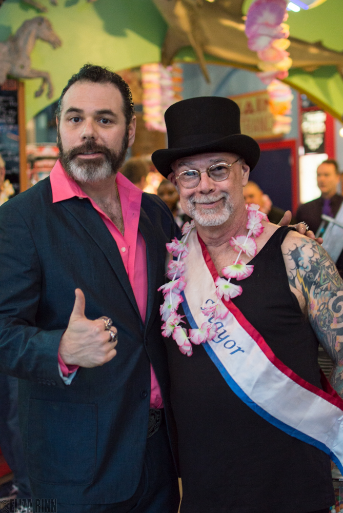 Adam RealMan and Dick Zigun at the Coney Island Spring Gala 2016