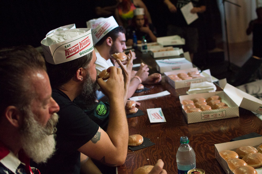 Krispy Kream eating contest at Heavy Rebel Weekender 2017
