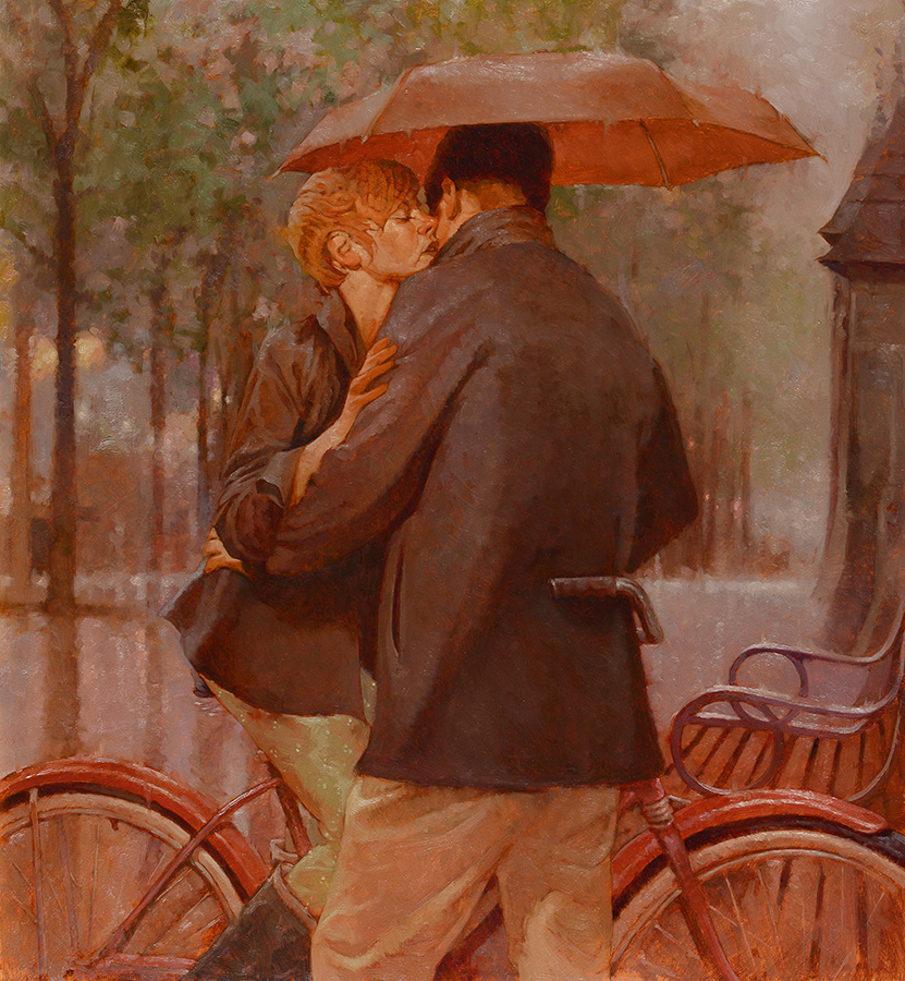 Kisses in the Rain 24x26 - SOLD