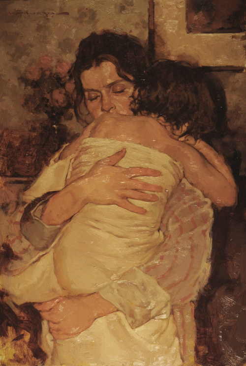 In Mommies Arms  24x18 - SOLD