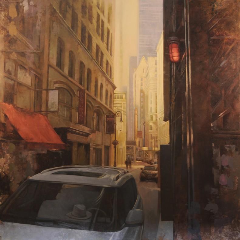 Morning Light in Lower Manhattan  48x48