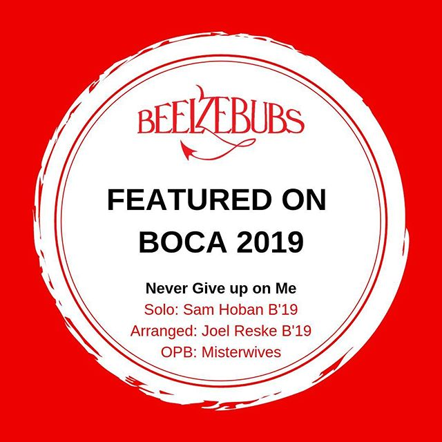 We are so honored to be featured on 2019 BOCA! Shoutout to the one and only Sam Hoban!!