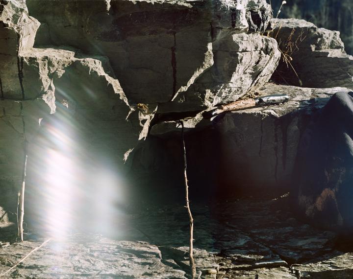 Tarred Rocks Preserved, Bakerton Quarry, WV 2012, Archival Pigment Print, 22 x 28 inches