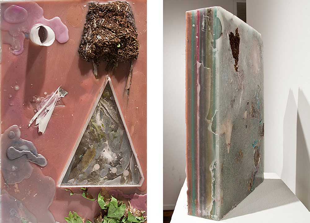 Mercury and the Perfect Triangle (Various States), 2011, Wax and mixed media, 12 x 18 x 6 inches