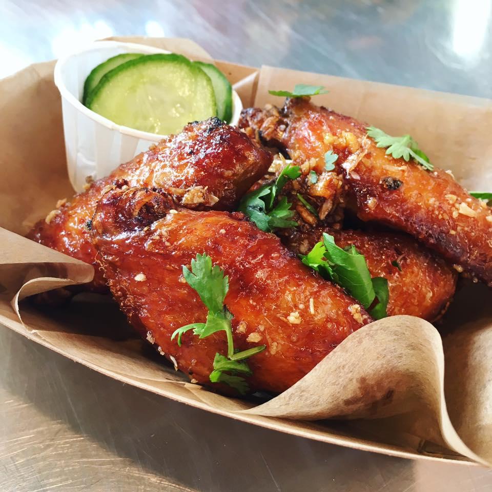 Adobo glazed wings