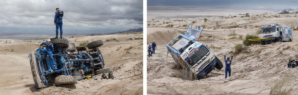 Jak hodit osmi tunový kamion zpátky na kola? Foto: Petr Lusk