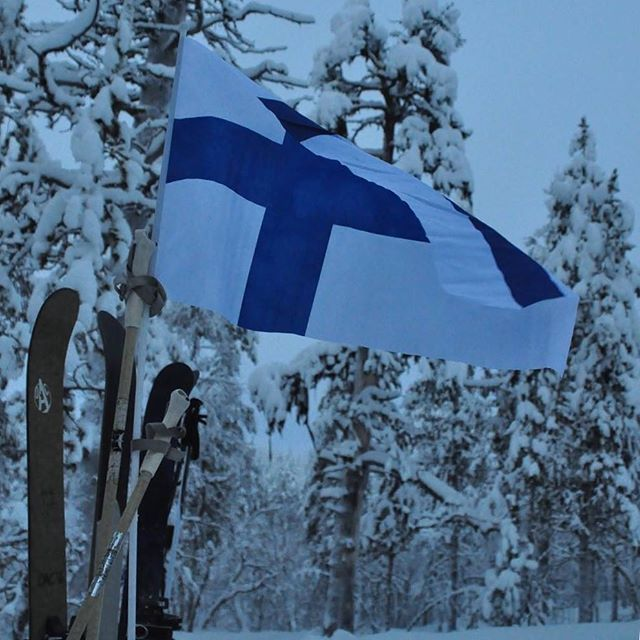 Happy Independence Day Finland! We are turning 100 years old today and the whole country will dress in blue and white. Maybe you can see some blue and white decorations in your home country, too? Please show them here! #finland #finland100 #visitfinland #suomi100 #independenceday #blueandwhite #nature #freedom #celebration #outdoors #skiing #oac #flag #forest #snow #youradventureofthelifetimebeginstoday #suomiretki #adventuretravel #adventureapes