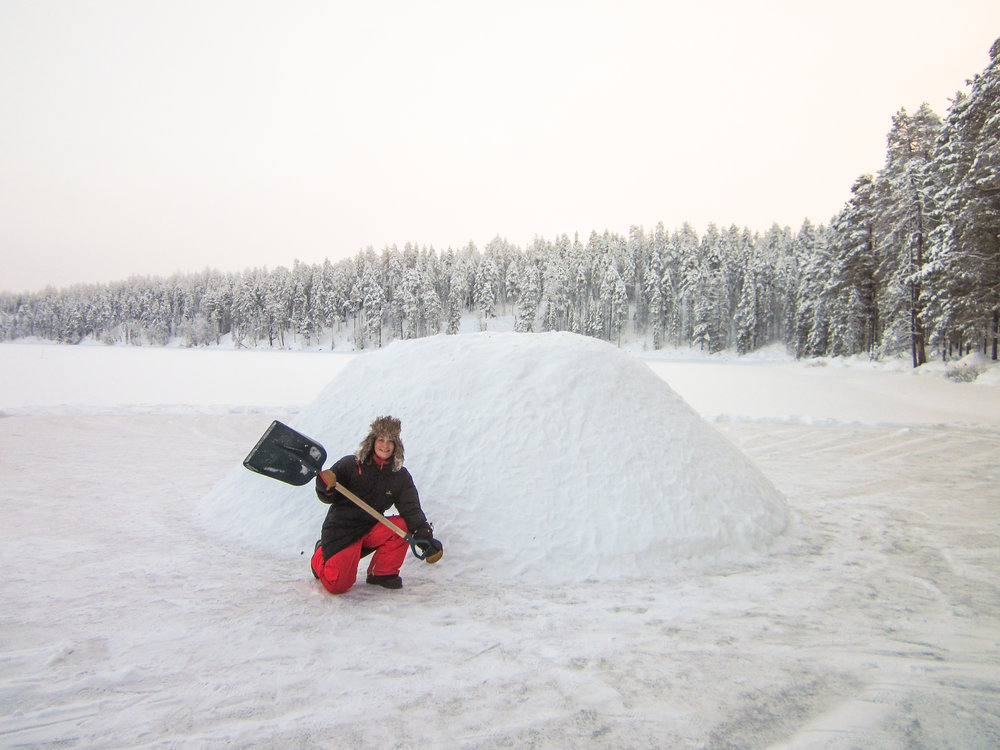 Build your own igloo in Finland