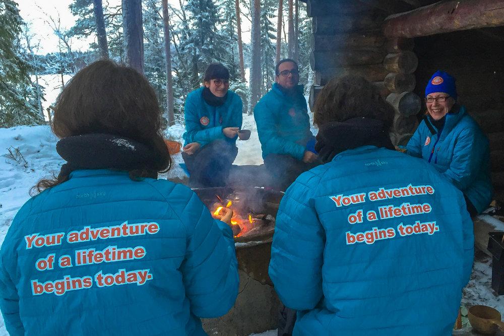 Outdoor dining in Kuusamo