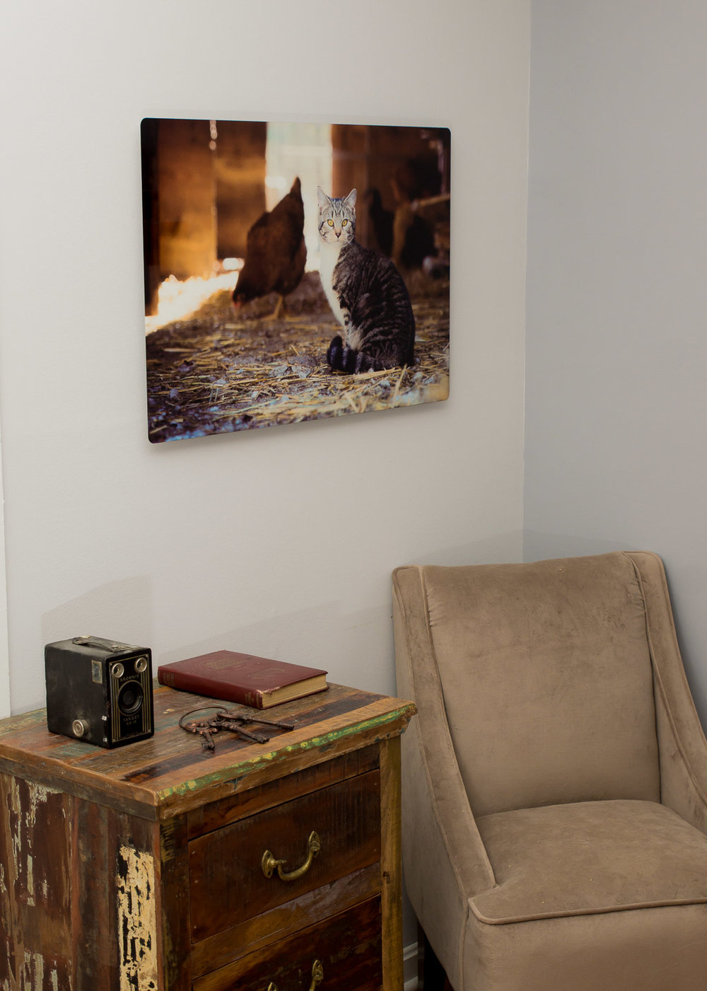 "A single metal print can also be a wonderful statement piece.  This is a 20"" x 30"" image."