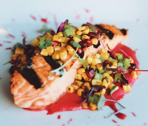 Salmon With Mole Rosa Kanaloa S New Dinner Menu Debuts On August 8
