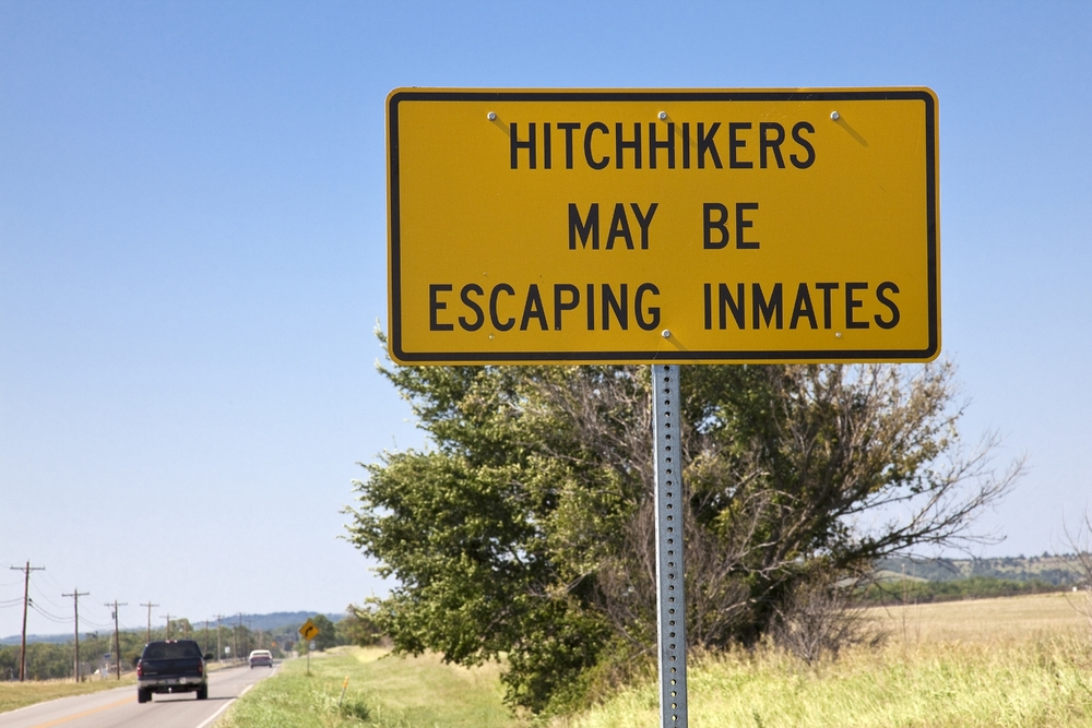 Hitchiker Sign
