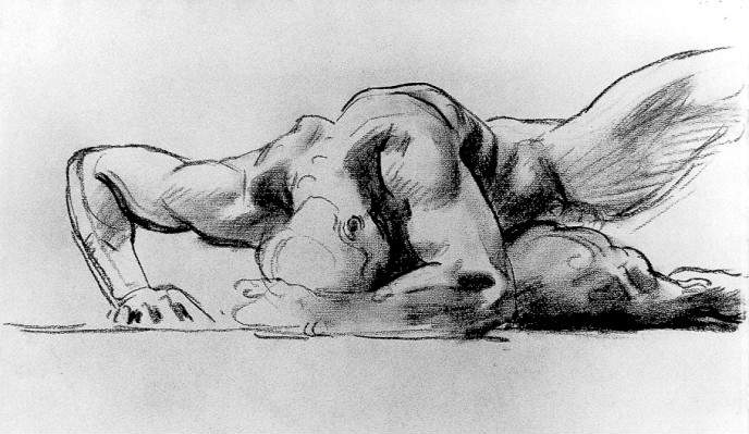 Study Figure for Hell By John Singer Sargent (1856-1925) [Public domain], via Wikimedia Commons