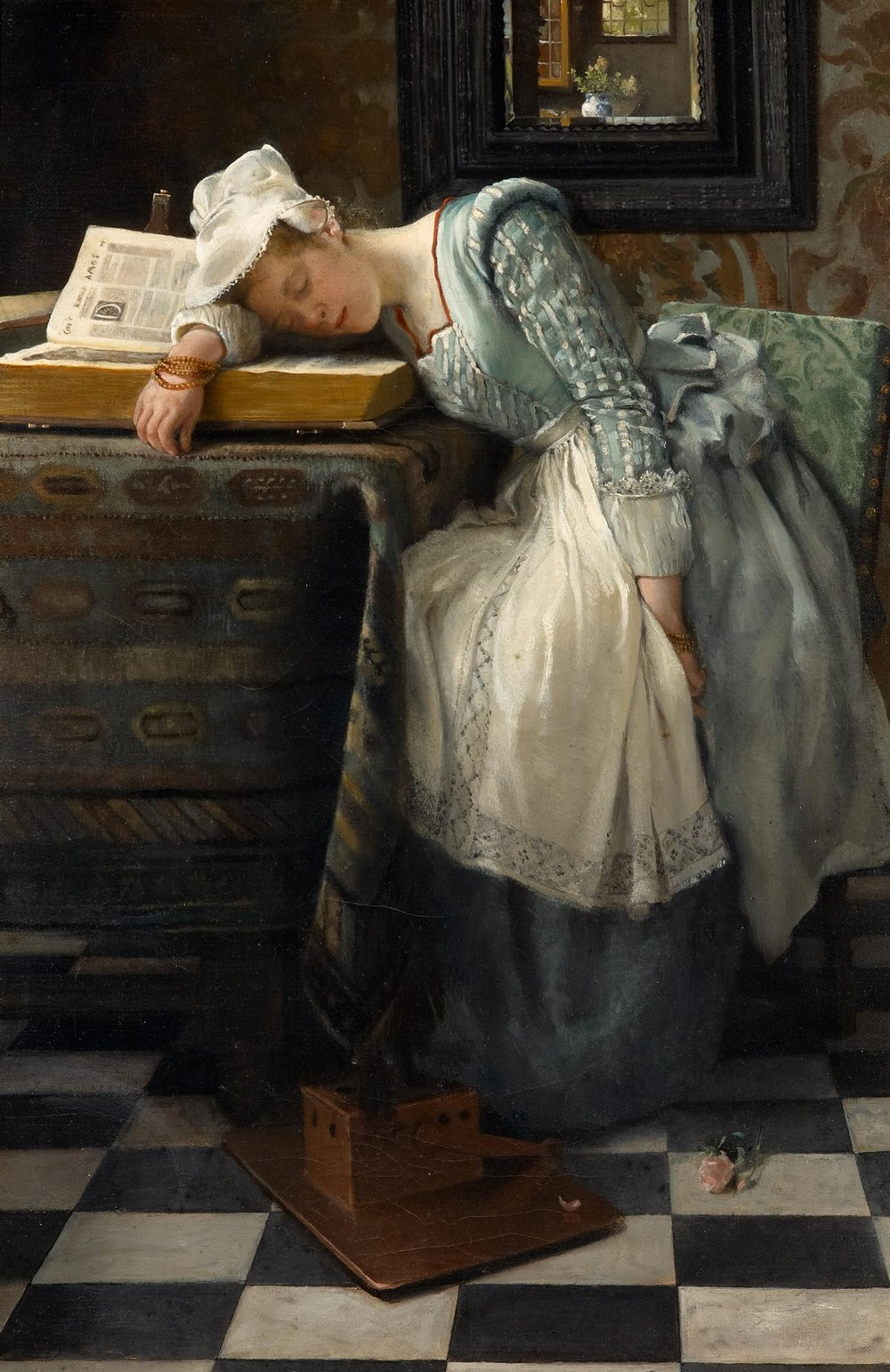 World of Dreams (1876) by Laura Theresa Alma-Tadema (1852-1909); [Public domain], via Wikimedia Commons