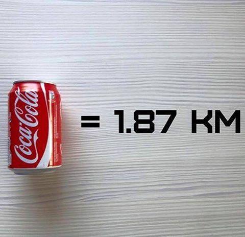 Para quemar las calorías que tiene una Coca Cola tendrías que correr 1,87 Km... #bebesano #actitudmiha