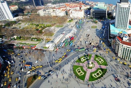 Taksim Square. Source:  Green Prophet