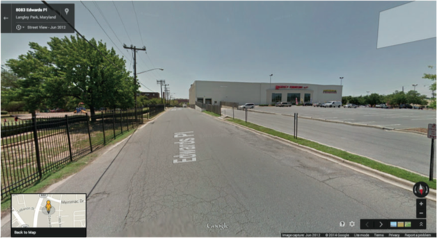 Google street view of Langley Park, MD.