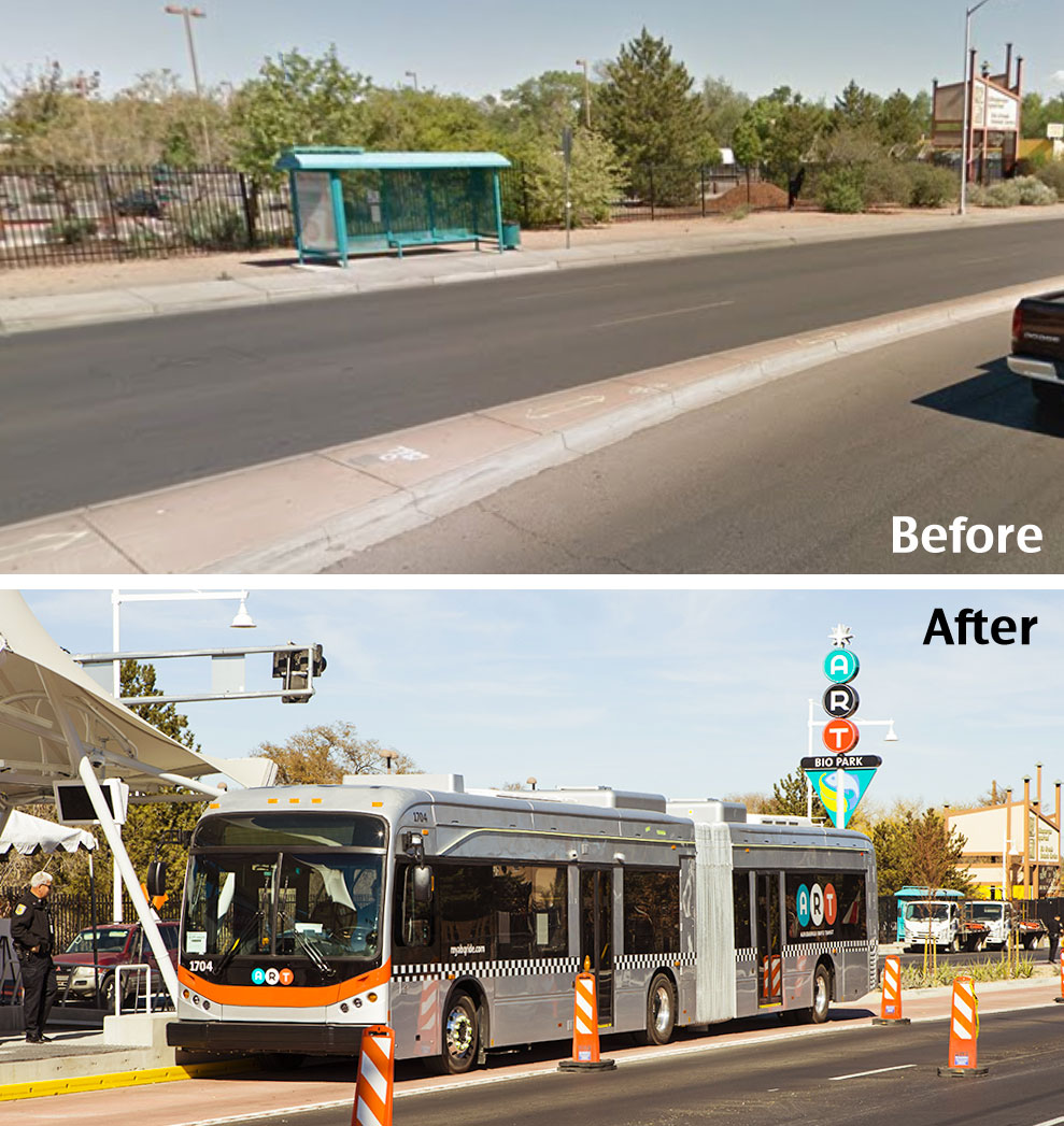 Central Avenue Before and After from  Streetsblog USA