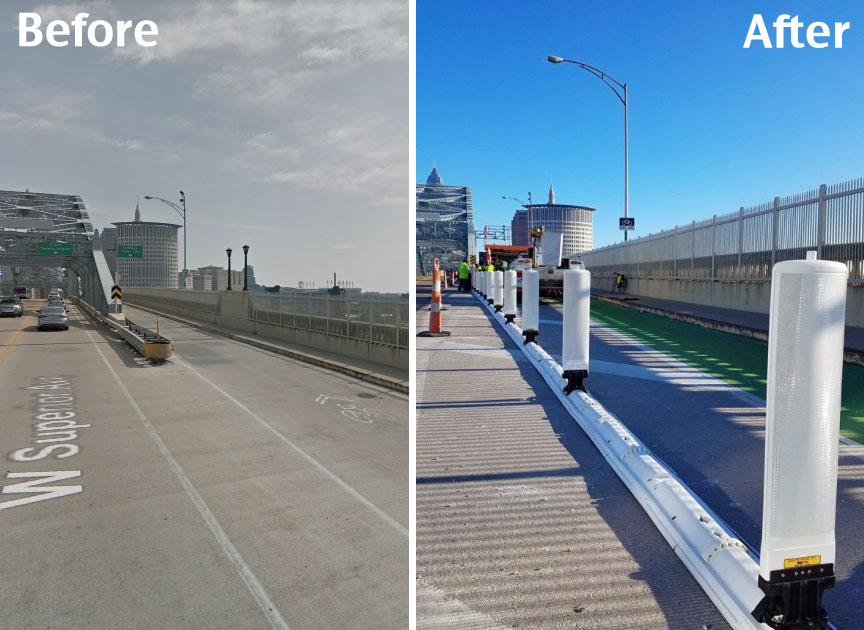 Detroit-Superior Bridge Before and After from  Streetsblog USA