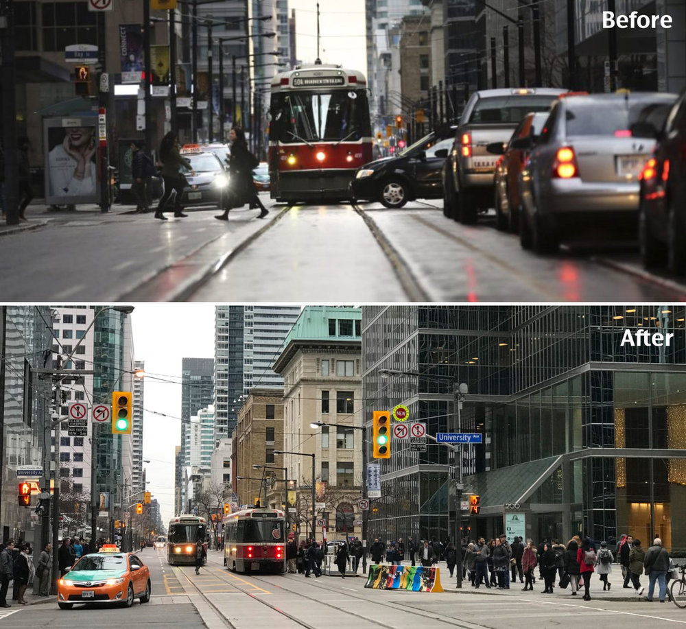 King Street Before and After from  Streetsblog USA