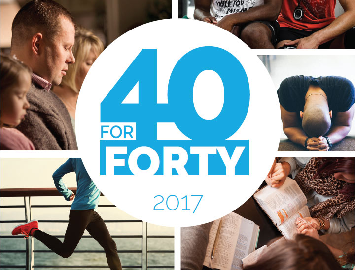 STARTS WEDNESDAY, MARCH 1ST - Grab your personal 40forFORTY Journal and join the campaign! Share your experience using the hashtag #40forFORTY