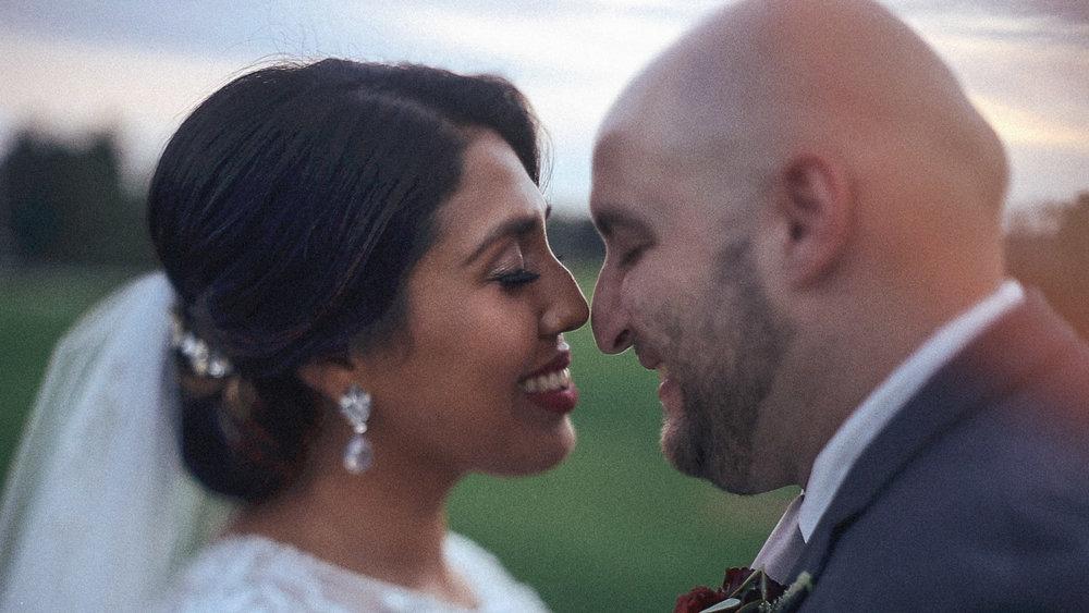 sunset wedding moments