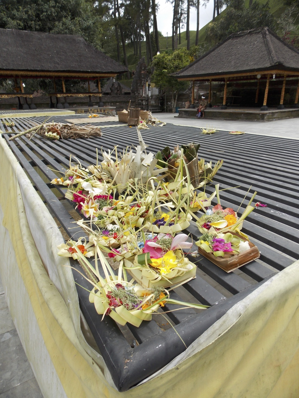Local Offerings at Tirta Empul Temple