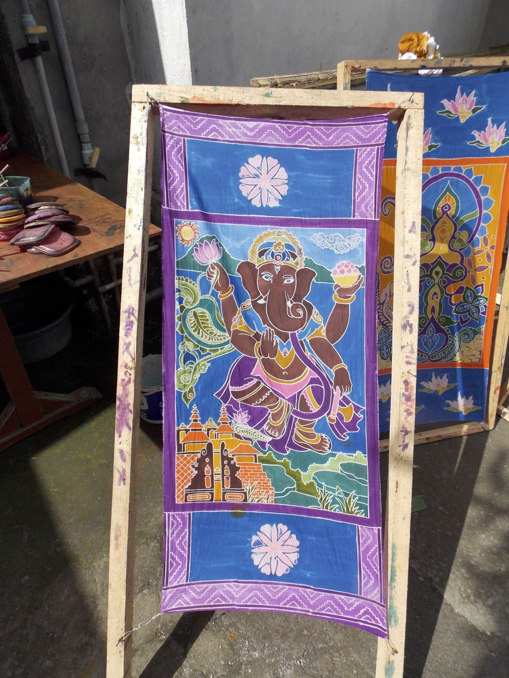 Finished Banner of my Batik Class