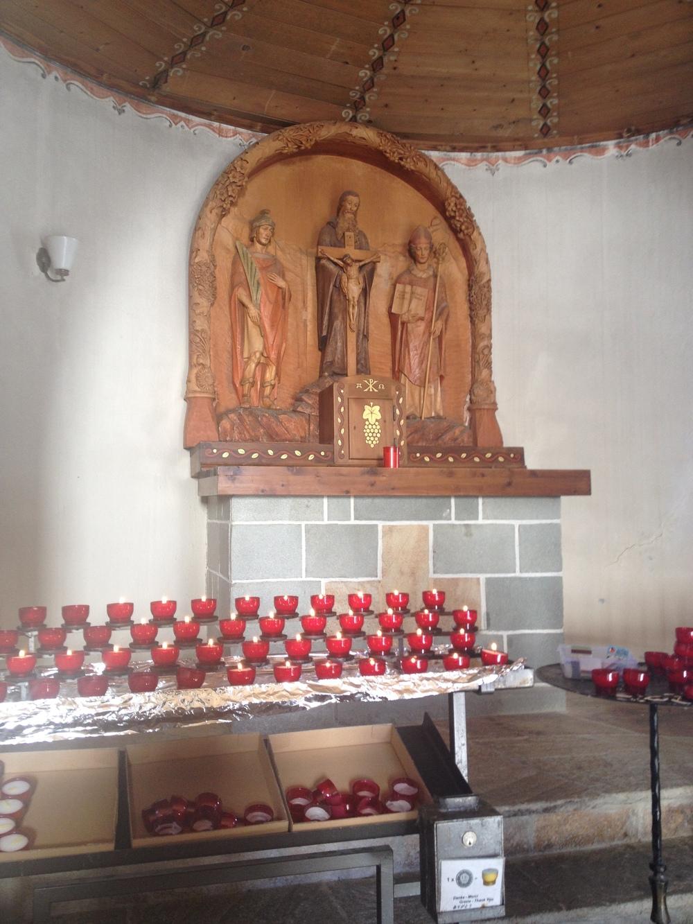 Inside of Bernhard von Aosta Chapel