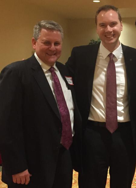 Photo: Sid with Rep. John Davis (R-Wilsonville) at the Clackamas Lincoln Day Dinner.